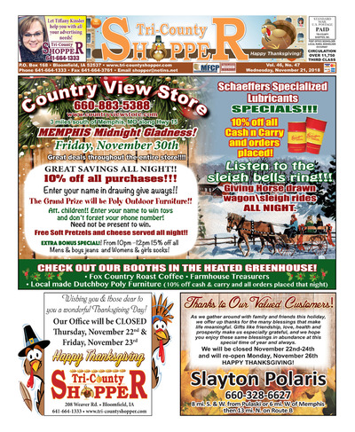 Tri-County Shopper - Nov 21, 2018