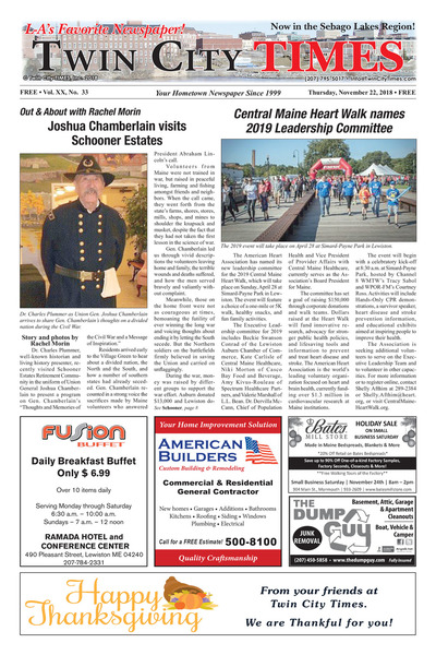 Twin City Times - Nov 22, 2018