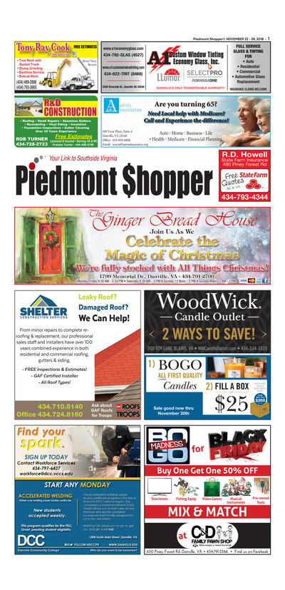Piedmont Shopper - Nov 22, 2018