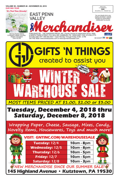 East Penn Valley Merchandiser - Nov 28, 2018