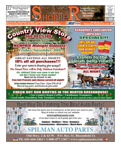 Tri-County Shopper - Nov 28, 2018