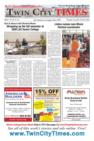 Twin City Times - Nov 29, 2018
