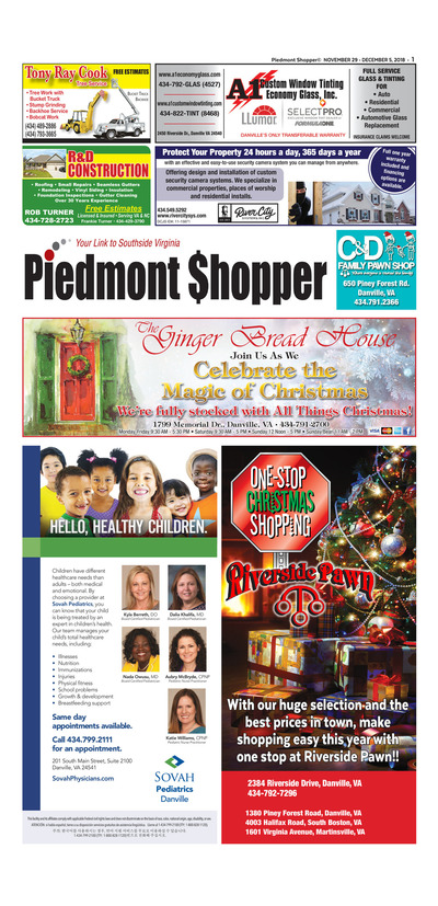 Piedmont Shopper - Nov 29, 2018