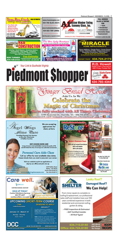 Piedmont Shopper - Dec 6, 2018