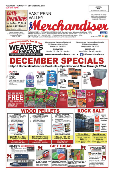 East Penn Valley Merchandiser - Dec 12, 2018