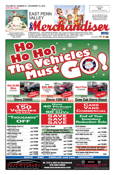 East Penn Valley Merchandiser - Dec 19, 2018