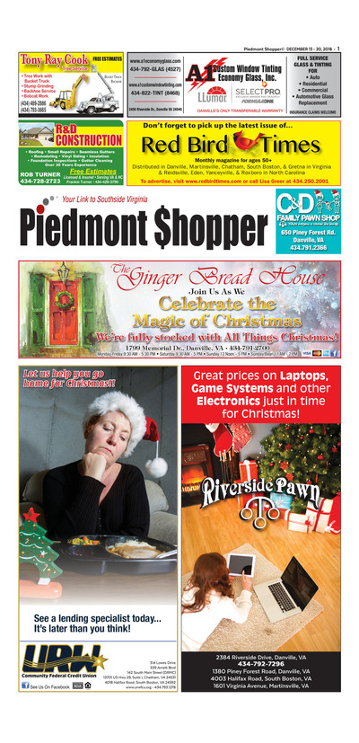 Piedmont Shopper - Dec 13, 2018