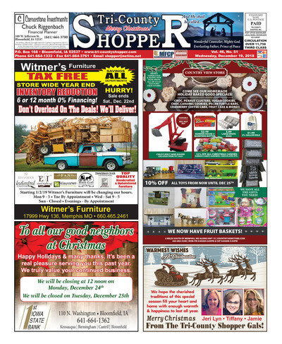 Tri-County Shopper - Dec 19, 2018