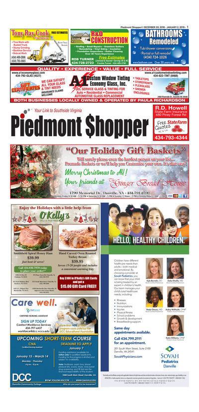 Piedmont Shopper - Dec 20, 2018