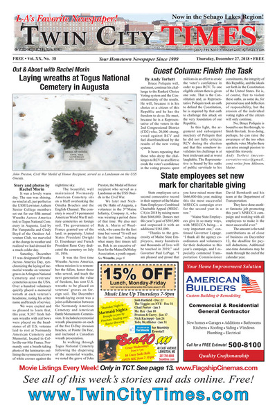 Twin City Times - Dec 27, 2018