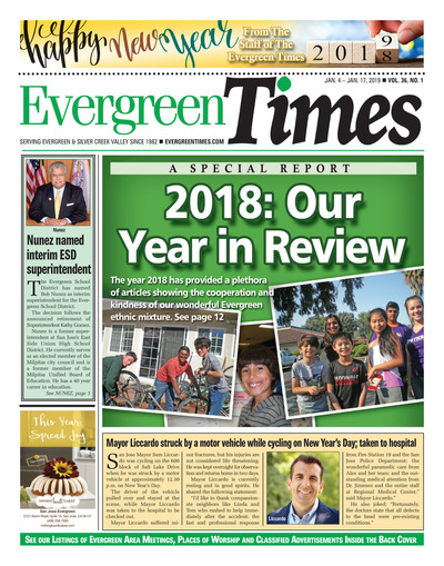 Evergreen Times - Jan 4, 2019