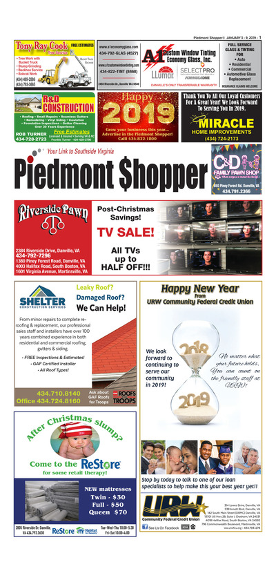 Piedmont Shopper - Jan 3, 2019