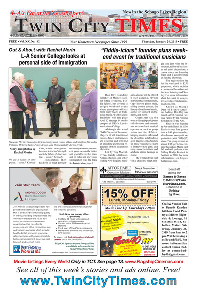 Twin City Times - Jan 24, 2019