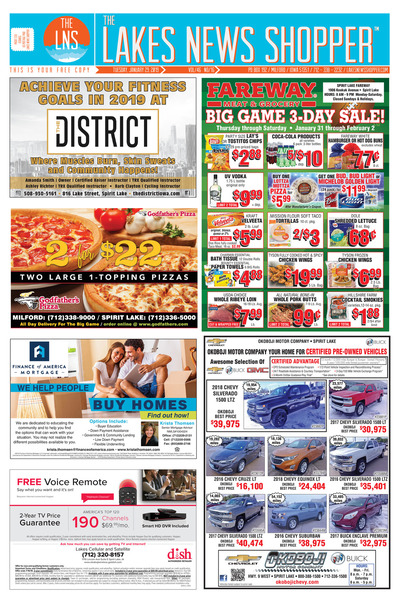 Lakes News Shopper - Jan 29, 2019
