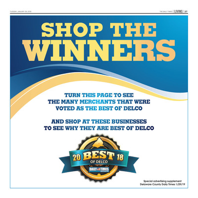 Delco Daily Times - Special Sections - Shop the Winners - 2019
