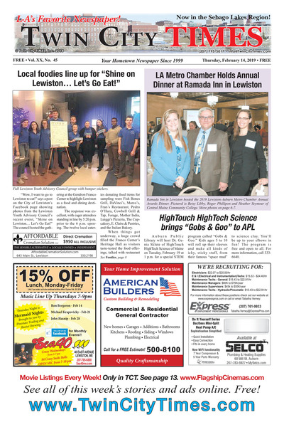Twin City Times - Feb 14, 2019