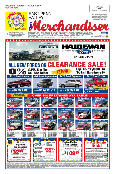 East Penn Valley Merchandiser - Mar 6, 2019