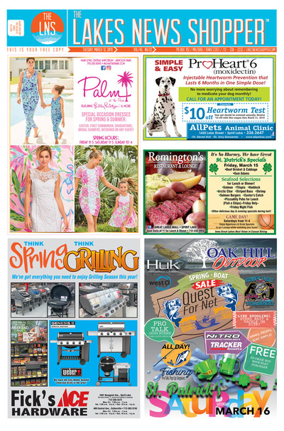 Lakes News Shopper - Mar 12, 2019