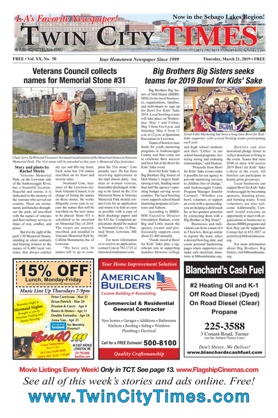 Twin City Times - Mar 21, 2019