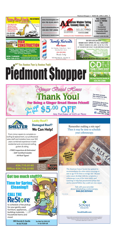Piedmont Shopper - Mar 28, 2019