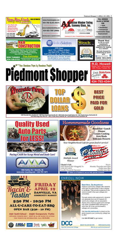 Piedmont Shopper - Apr 4, 2019