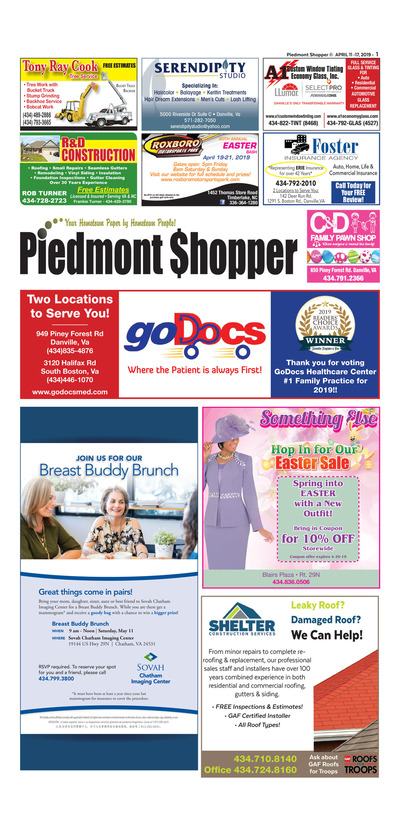 Piedmont Shopper - Apr 11, 2019