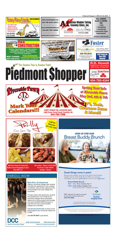 Piedmont Shopper - Apr 18, 2019