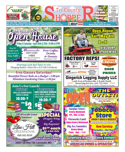 Tri-County Shopper - Apr 24, 2019