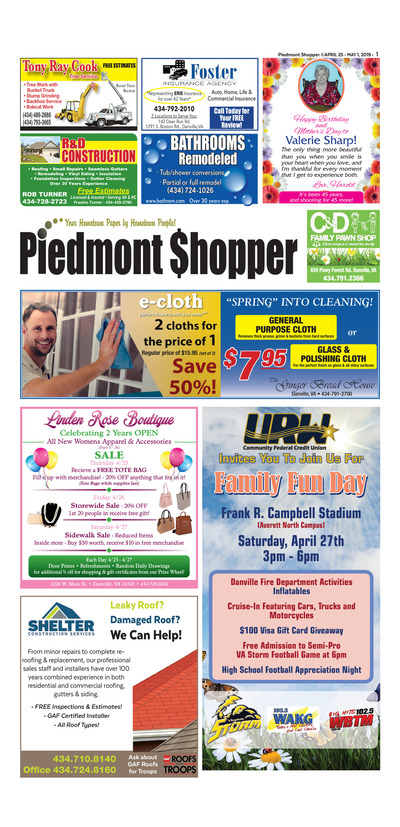 Piedmont Shopper - Apr 25, 2019