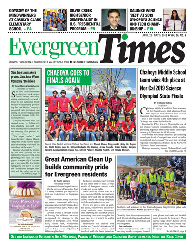 Evergreen Times - Apr 26, 2019
