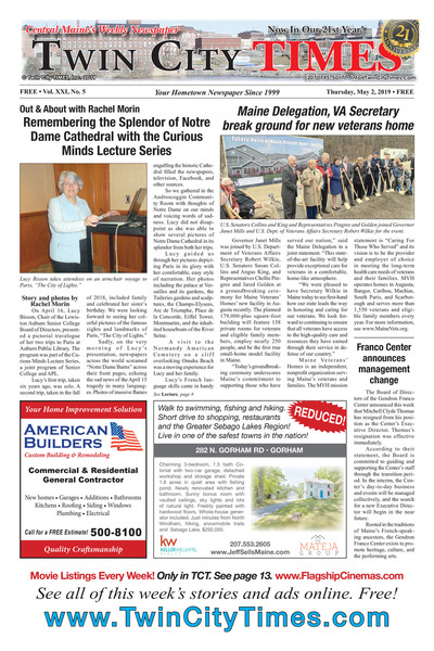 Twin City Times - May 2, 2019
