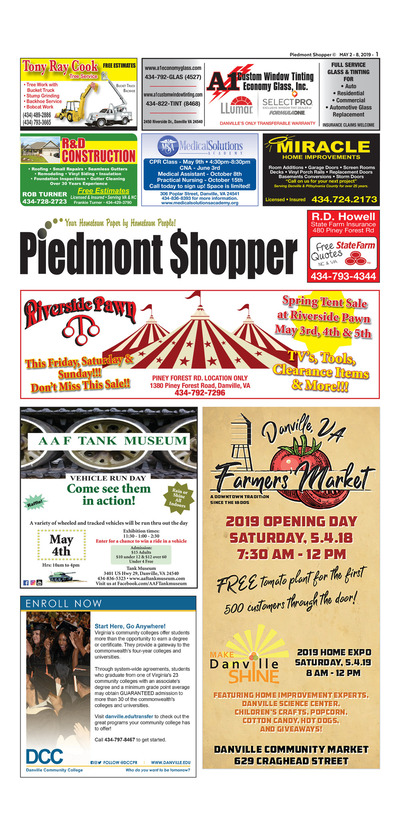 Piedmont Shopper - May 2, 2019