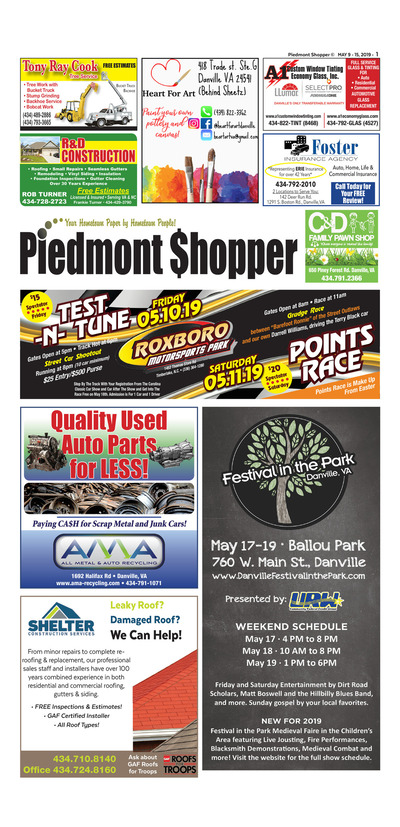 Piedmont Shopper - May 9, 2019