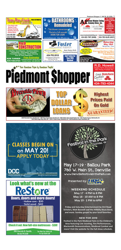 Piedmont Shopper - May 16, 2019