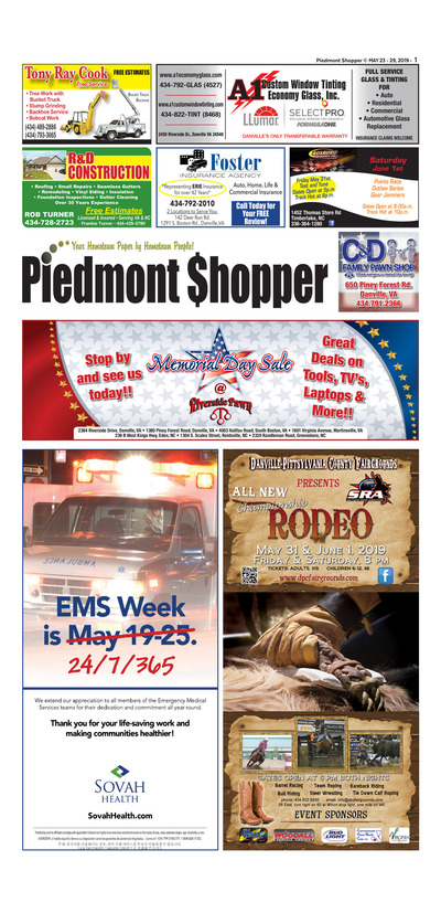 Piedmont Shopper - May 23, 2019