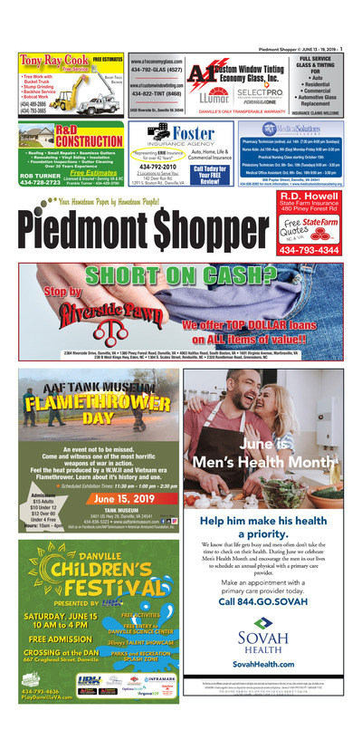 Piedmont Shopper - Jun 13, 2019