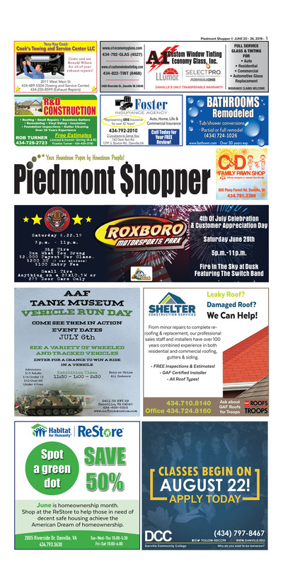 Piedmont Shopper - Jun 20, 2019