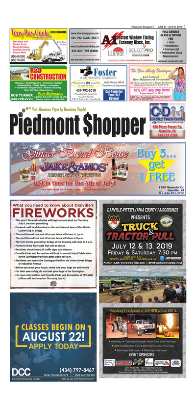 Piedmont Shopper - Jun 27, 2019