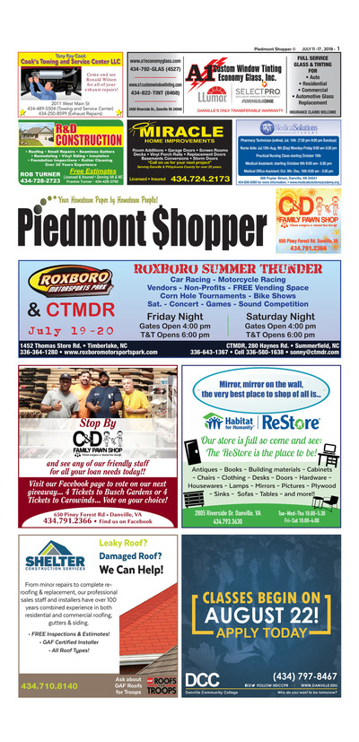 Piedmont Shopper - Jul 11, 2019
