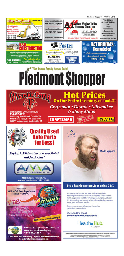 Piedmont Shopper - Jul 18, 2019