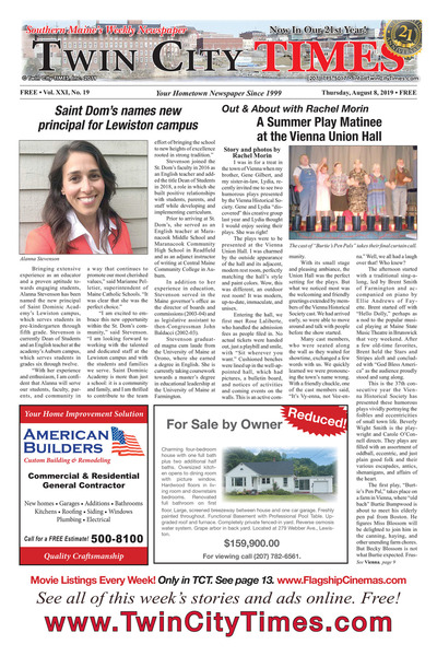 Twin City Times - Aug 8, 2019