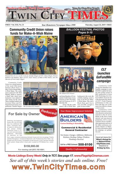 Twin City Times - Aug 22, 2019