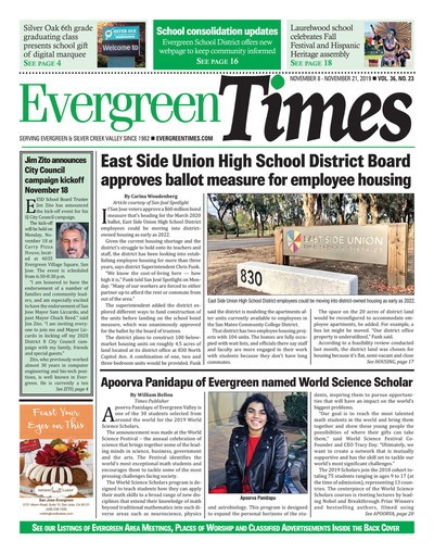 Evergreen Times - Nov 8, 2019