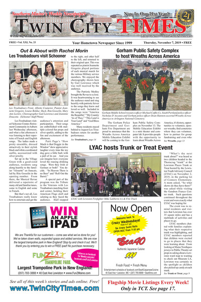 Twin City Times - Nov 7, 2019