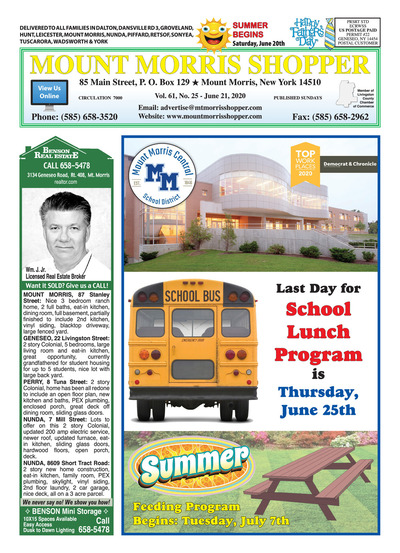 Mount Morris Shopper - Jun 21, 2020
