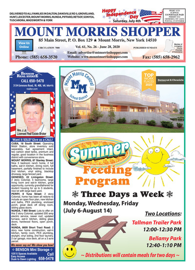 Mount Morris Shopper - Jun 28, 2020