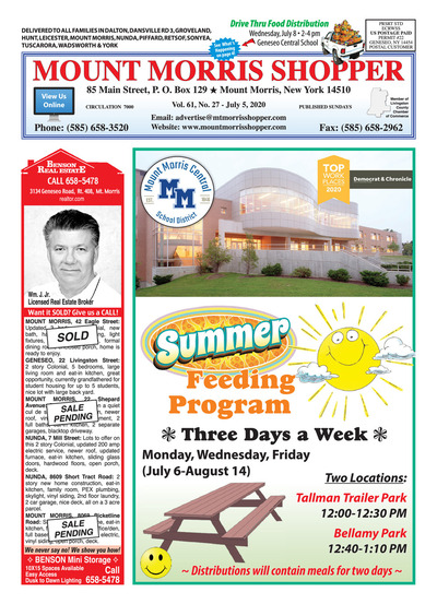 Mount Morris Shopper - Jul 5, 2020