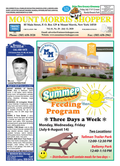 Mount Morris Shopper - Jul 12, 2020
