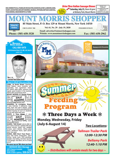 Mount Morris Shopper - Jul 19, 2020