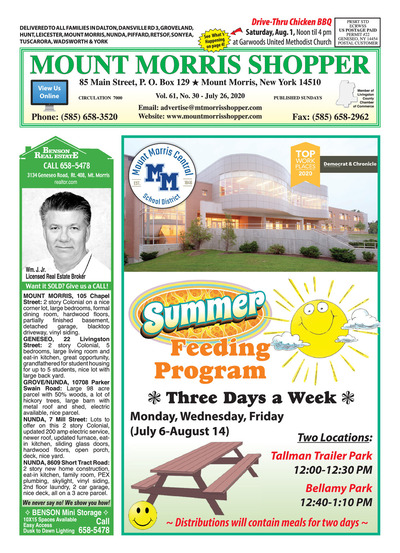 Mount Morris Shopper - Jul 26, 2020